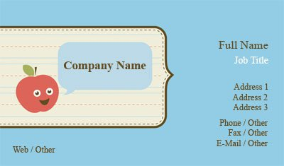 Blue Daycare Business Card Template